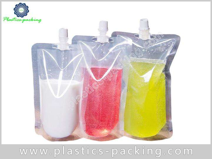 1 Liter Stand Up Pouch with Sealed Spout Cap 673