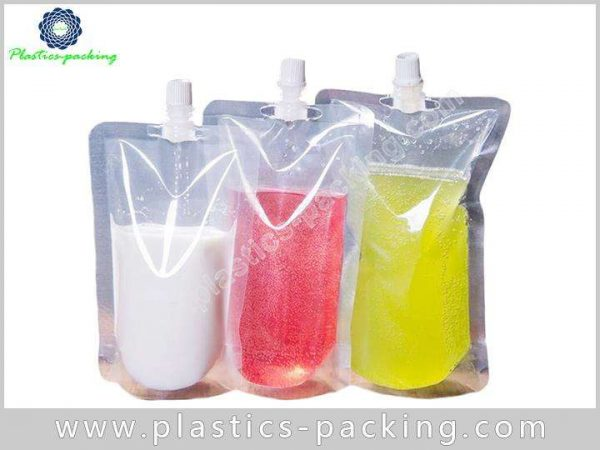 1 Liter Stand Up Pouch with Sealed Spout Cap 678