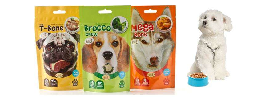 100 G Stand Up Pet Food Bags Zipper Packing 90 Micron PET Food Bags 6