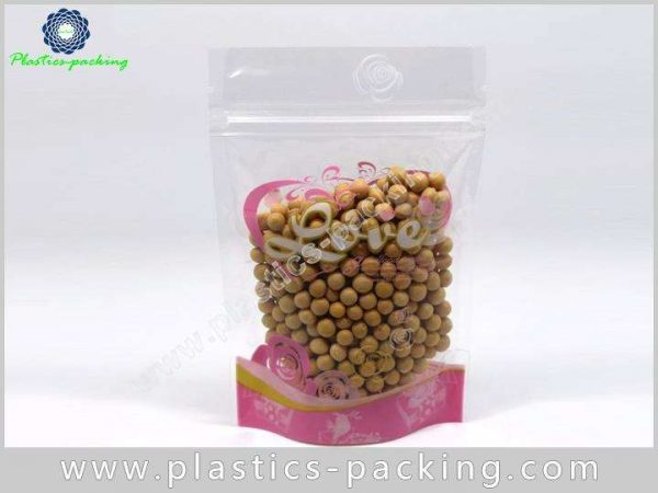 200g Clear Stand Up Zipper Pouch Manufacturers and 614