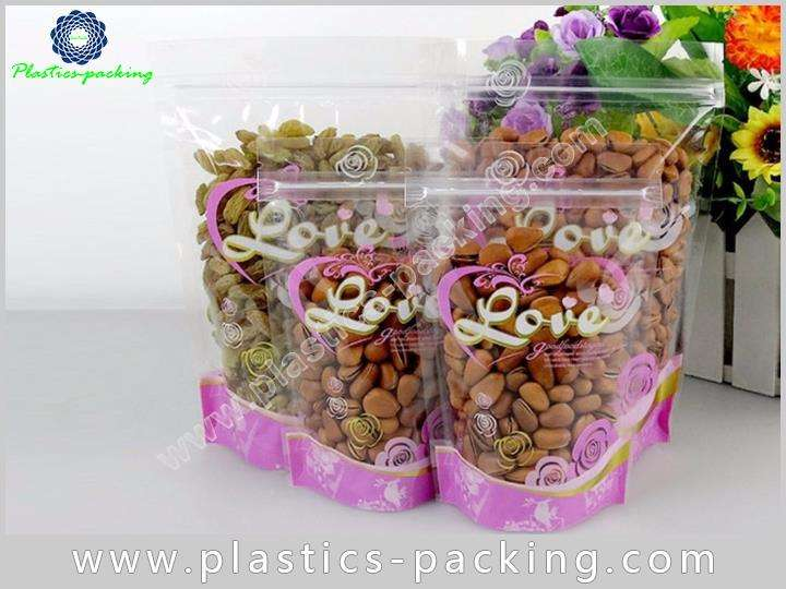 200g Clear Stand Up Zipper Pouch Manufacturers and 618