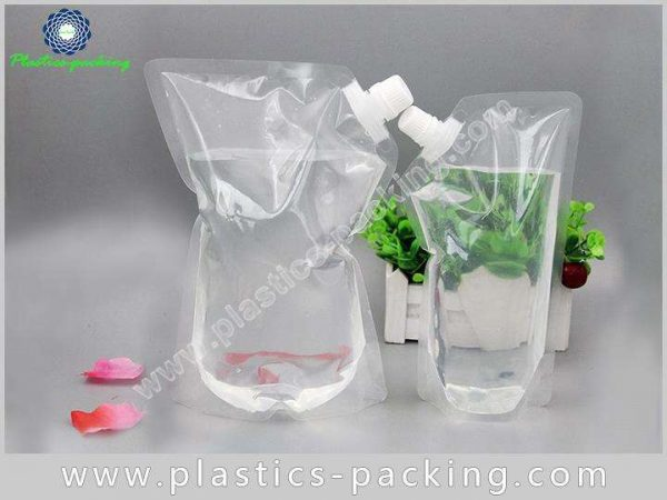 200ml Drinking Water Stand Up Clear Spout Pouch yyt 551