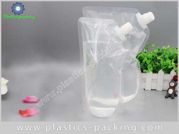 200ml Drinking Water Stand Up Clear Spout Pouch yyt 552
