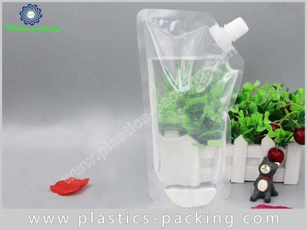 200ml Drinking Water Stand Up Clear Spout Pouch yyt 553