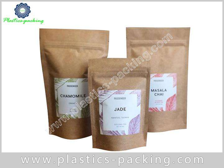 250g Kraft Paper Zipper Pouch Manufacturers and Sup 250