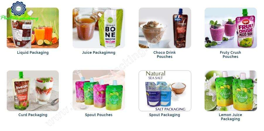 300ml Spout Pouch For Packing Juice Manufacturers a 497