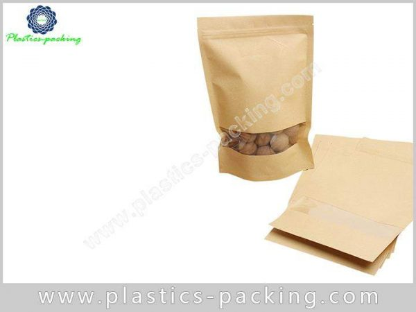 500g Kraft Paper Ziplock Pouch Printed Standing Up 246
