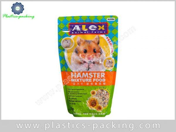 Aluminum Foil Moisture Proof Plastic Stand Up Pet Food Bags With Resealable Zipper 7