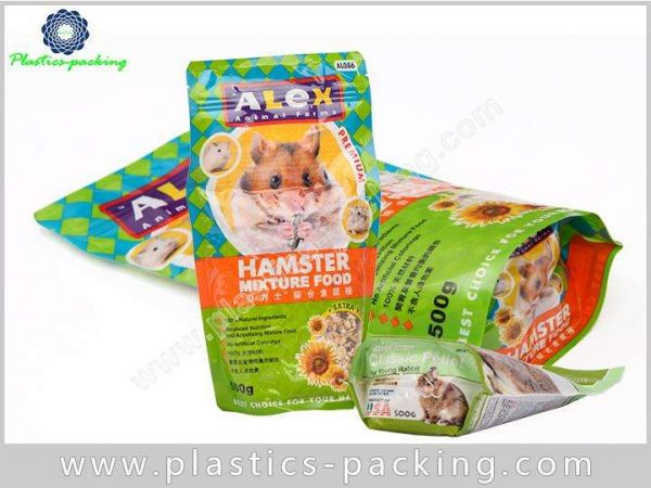 Aluminum Foil Moisture Proof Plastic Stand Up Pet Food Bags With Resealable Zipper 8
