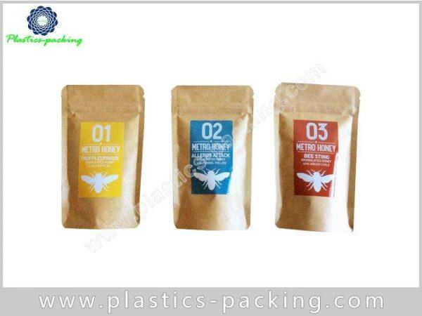 Bottom Gusset Kraft Paper Zipper Bags Food Grade yy 233