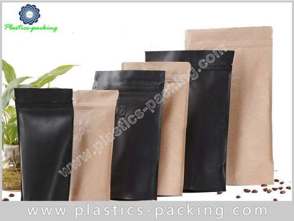 Bottom Gusset Kraft Paper Zipper Bags Food Grade yy 235