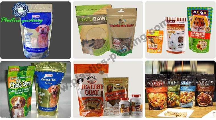 Bottom Gusset Pet Food Bags With Zipper 100g 250g 500g Custom Printed Colour Pet Food Packaging 6