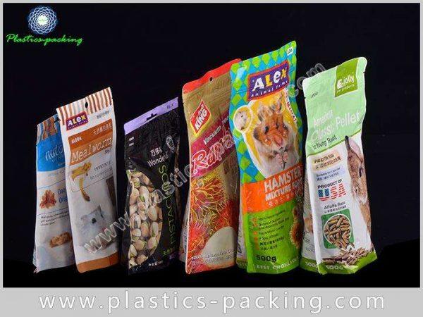 Bottom Gusset Pet Food Bags With Zipper 100g 250g 500g Custom Printed Colour Pet Food Packaging 9