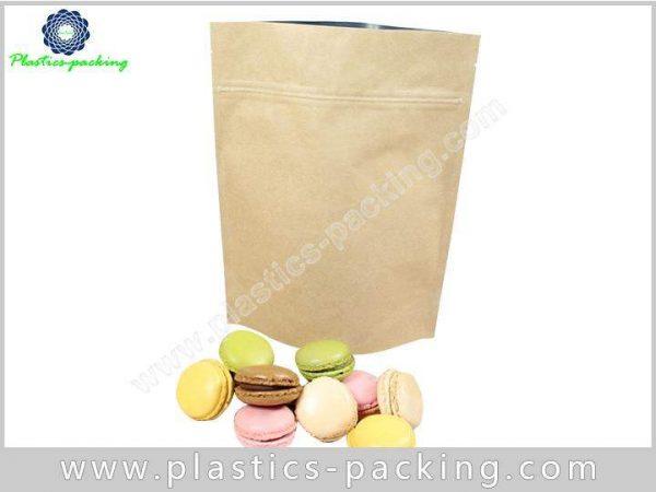 Brown Kraft Paper Ziplock Bags Self Standing Zipper 223