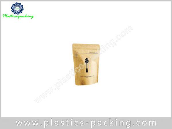 Brown Kraft Paper Ziplock Bags Self Standing Zipper 224