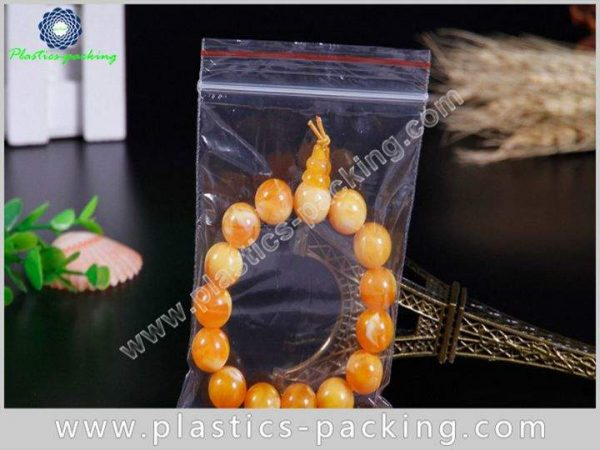 Clear PE Zipper Bags Crystal Clear Zip Bags 2 Mil Reclosable With Hang Hole Plastic Bags 1