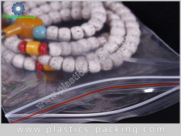 Clear PE Zipper Bags Crystal Clear Zip Bags 2 Mil Reclosable With Hang Hole Plastic Bags 2