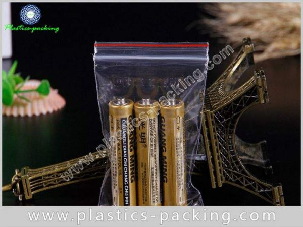 Clear PE Zipper Bags Crystal Clear Zip Bags 2 Mil Reclosable With Hang Hole Plastic Bags 3