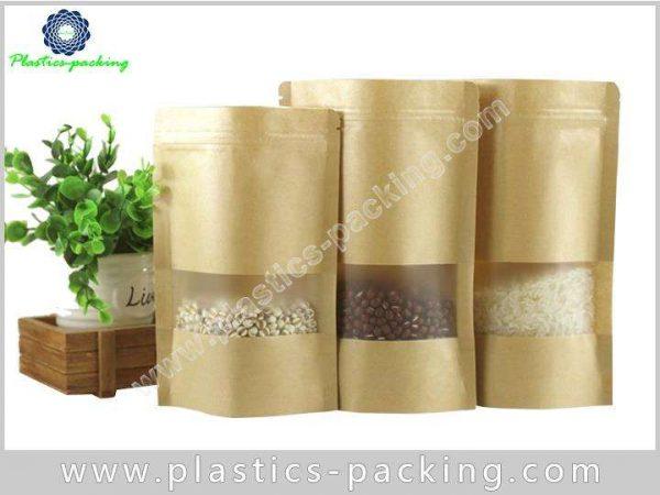 Clear Window Resealable Kraft Paper Bags 120g Kraft 213