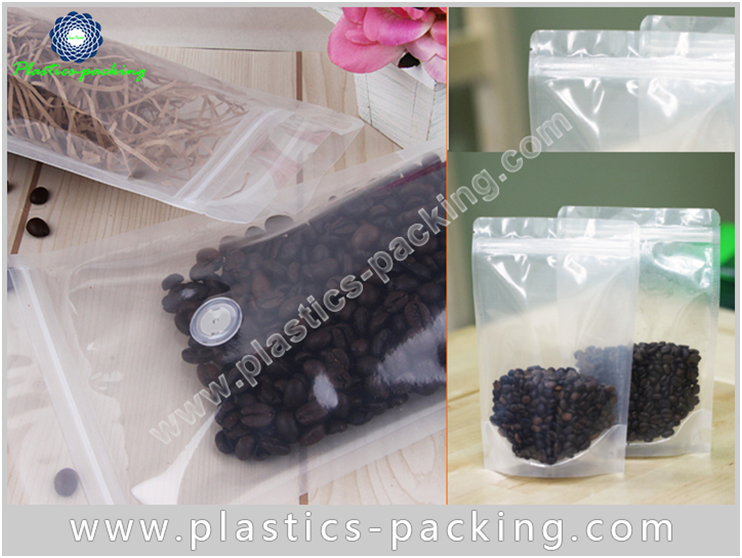 Clear Zipper Pouch Stand Up Coffee Bags Manufacture 483
