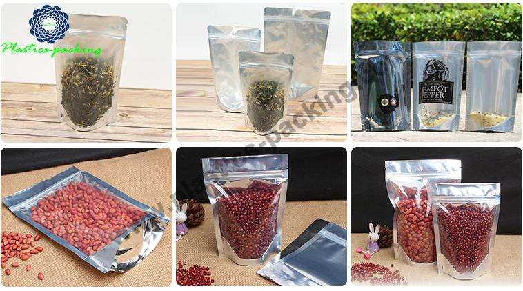 Custom Foil Stand Up Pouches Zipper Top SuperFood y 0268