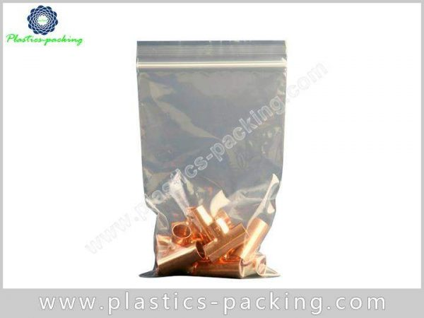 Custom Printed PE Plastic Zipper Packaging Bag 50 Micron Customized Printing PE Zipper Bag 7