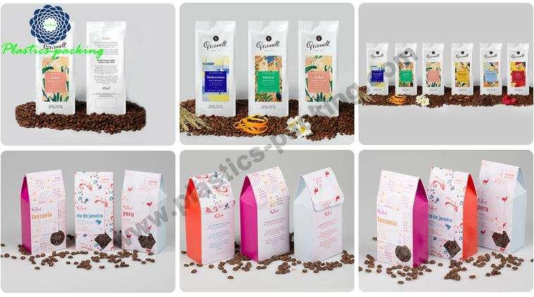 Custom Printed Side Gusset Coffee Bags with One yyt 472
