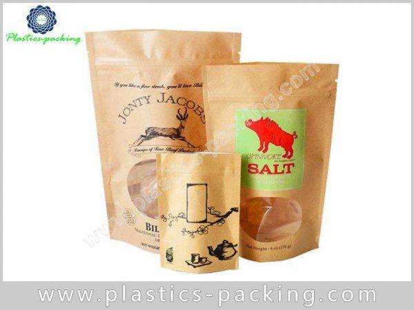 Custom Printing Kraft Paper Zipper Pouch Manufacturers yyt 189