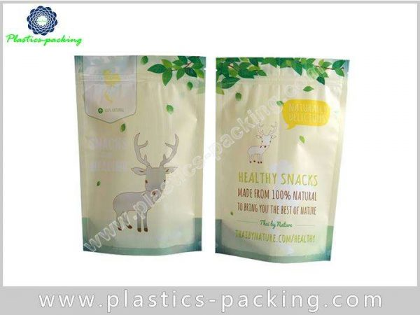 Custom Ziplock Stand Up Pouches Clear Window yyth 0353