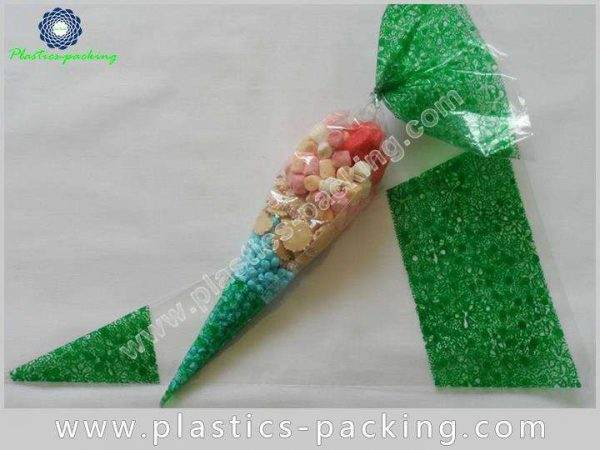 Customized BOPP Cone Shape Bags for Cookies Food yy 114