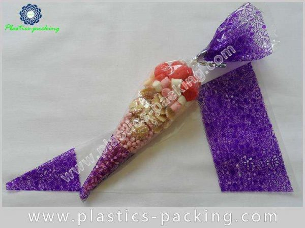 Customized BOPP Cone Shape Bags for Cookies Food yy 115