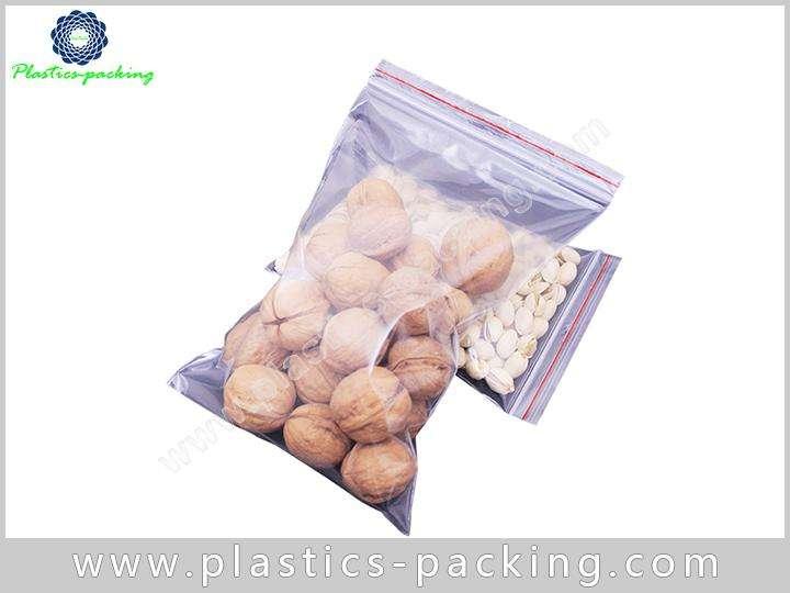 Customized Crystal Clear Zip Bags0.13mm Plastic Zipper Pouch Heat Seal Ziplock Bag 1