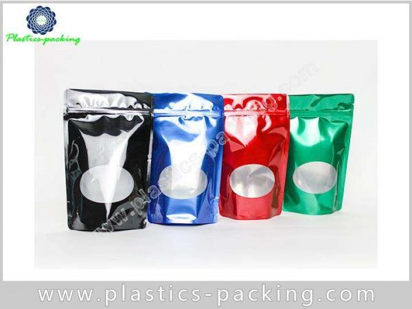 Customized Foil Material Ziplock Bag Stand Up Pouch 0383