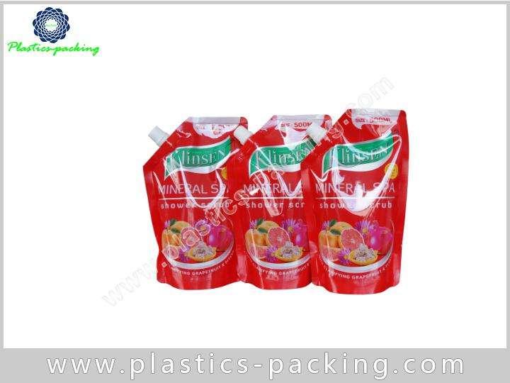 Customized Printed Stand Up Food Grade Plastic Liqu 381