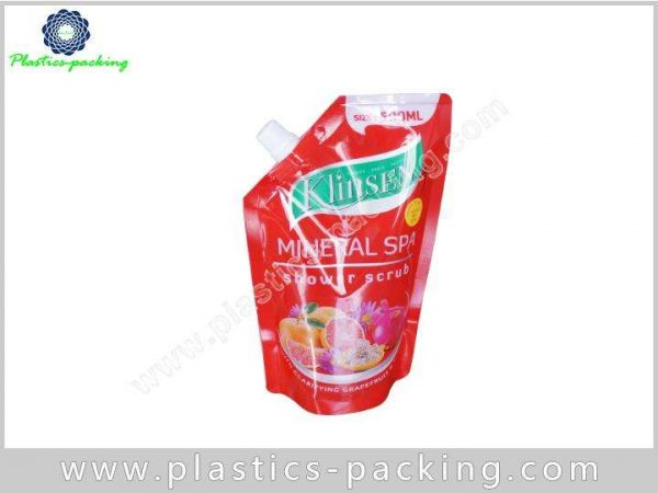 Customized Printed Stand Up Food Grade Plastic Liqu 385