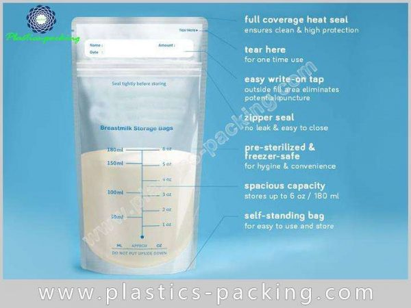 Double Zipper BreastMilk Bags Manufacturers and Suppliers 117