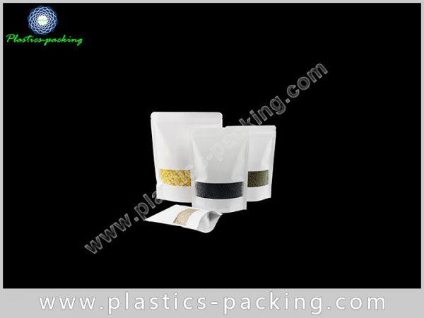 Doypack Kraft Paper Ziplock Bags 200g Laminated Kra 171