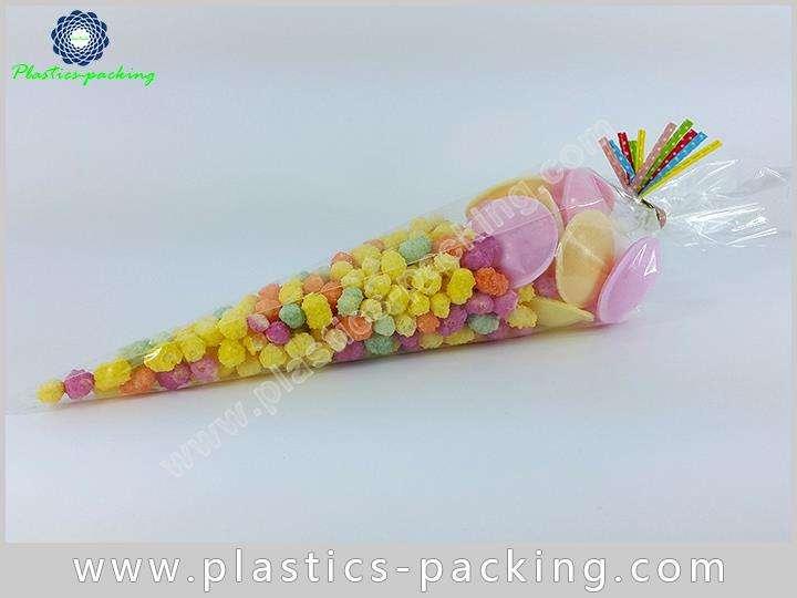 Eco Friendly BOPP Cone Cellophane Bags 40 Micron Fo 105