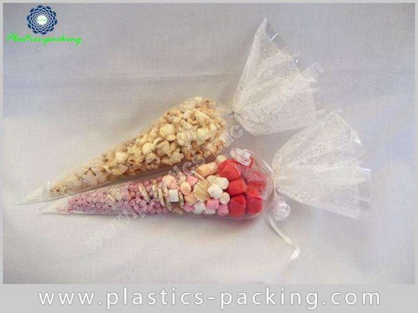 Eco Friendly BOPP Cone Cellophane Bags 40 Micron Fo 107