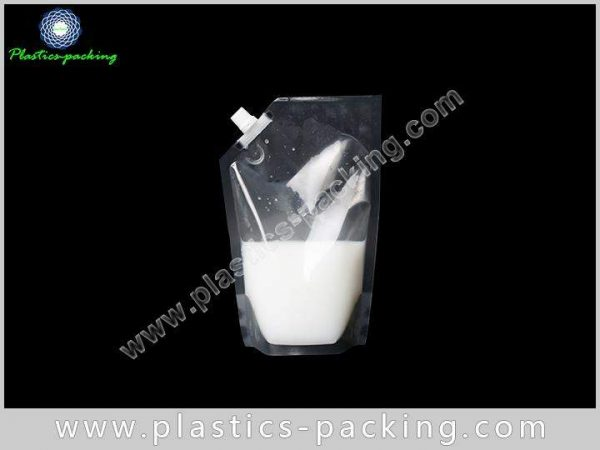 FDA Approval Eco Stand Up Beverage Liquid Packaging 355