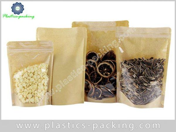 FDA Approved Kraft Paper Zipper Pouches Manufacturers yyth 157