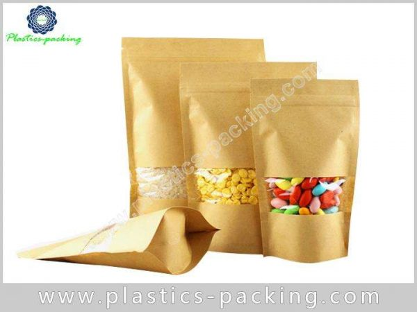 FDA Approved Kraft Paper Zipper Pouches Manufacturers yyth 158