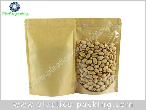 FDA Approved Kraft Paper Zipper Pouches Manufacturers yyth 159