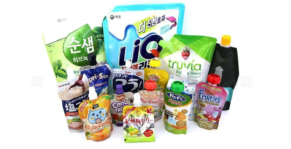 Flexible Printing Lamination Liquid Packaging Spout Bag yy 318