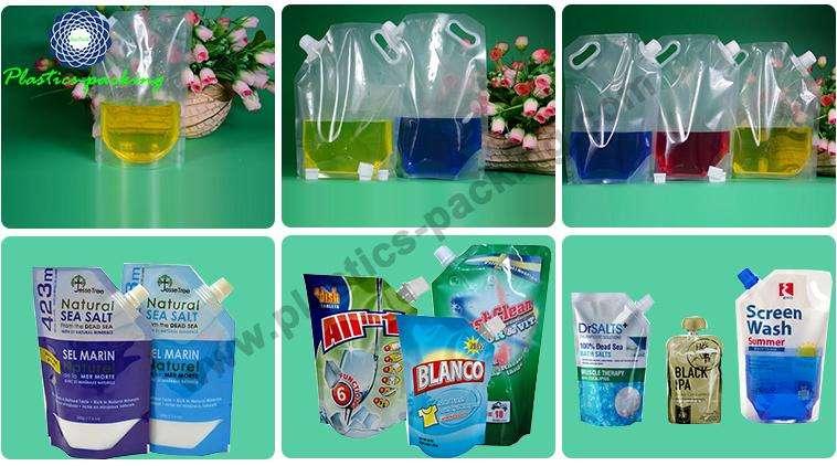 Flexible Printing Lamination Liquid Packaging Spout Bag yy 320