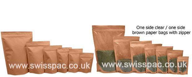 Flower Tea Kraft Paper Zipper Bags Stand Up 136