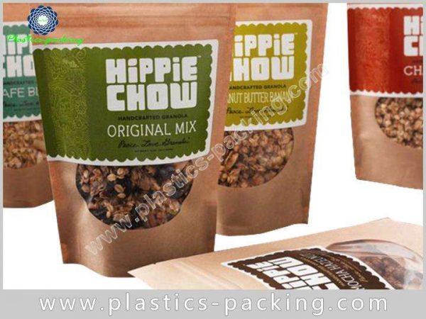 Flower Tea Kraft Paper Zipper Bags Stand Up 139