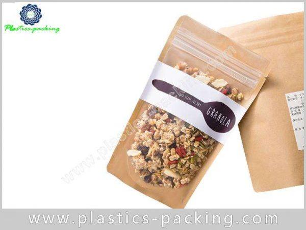 Flower Tea Kraft Paper Zipper Bags Stand Up 140