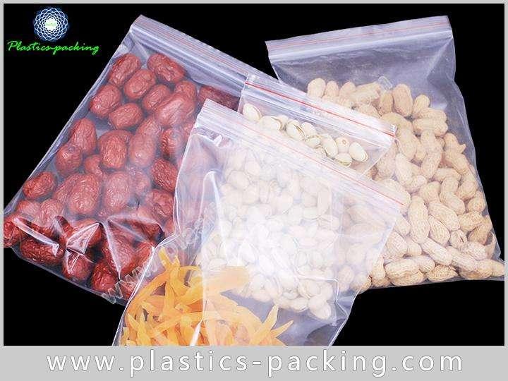 Food Grade Plastic Ziplock Bag PE Material Recloseable Pouch Clear Ziplock Bag 1
