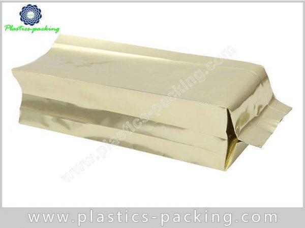 Food Grade Printed Gold Colour Coffee Bags Side yyt 373